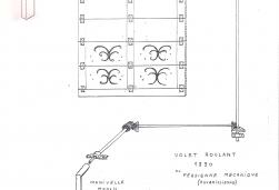 Schéma de l'ancêtre du volet roulant de 1890